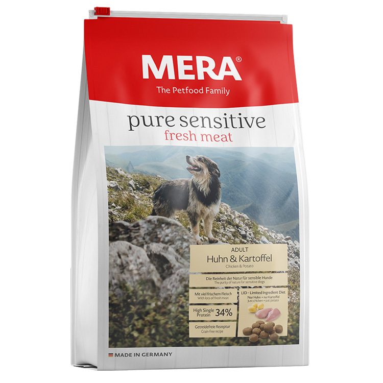 MERA Pure Sensitive Fresh Meat Adult Medium/Maxi Pui si Cartof 12,5kg