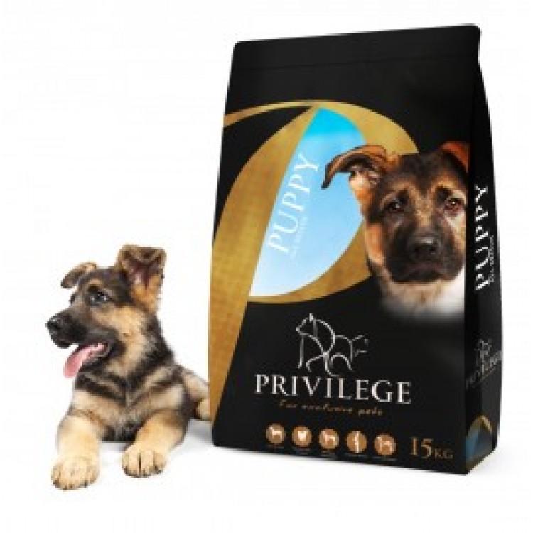 Privilege Puppy All Breed – Pui & Orez - Hrana uscata super-premium - 15 kg