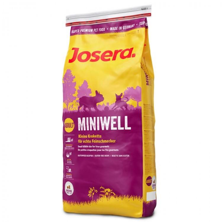 Josera Miniwell - 12 + 3 kg gratis