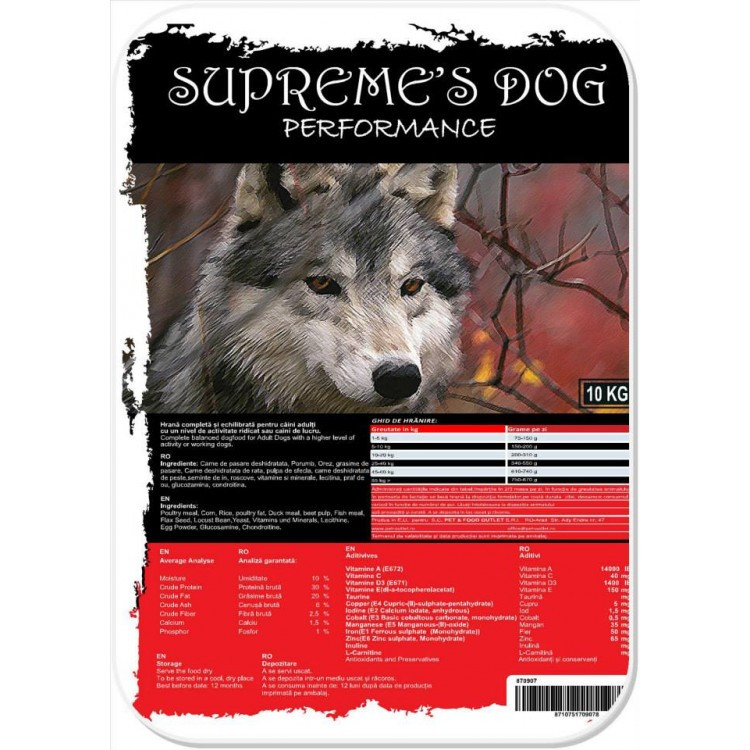 SUPREME'S PREMIUM ADULT-PERFORMANCE-20 kg