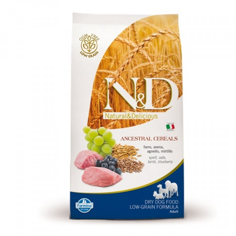 2 x N&D Low Grain Adult Medium  Miel si Afine - 12 kg
